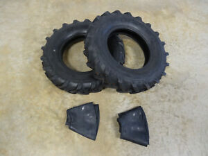 Two New Deestone 6 00 14 Tractor Lug D402 Tires Tubes 6 Ply