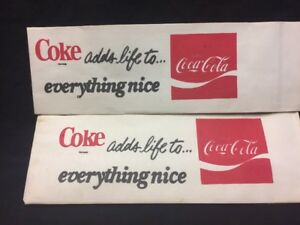 LOT 2 Old Coca Cola 1970s Soda Foutain Coke Soda Jerk Hats