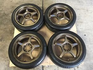 Jdm Subaru Wrx Sti Rays Gram Lights Wheels 17 Rays Foundry Rims Forged 5x114 3
