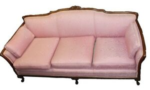 Vintage Mid Century French Provincial Style Sofa
