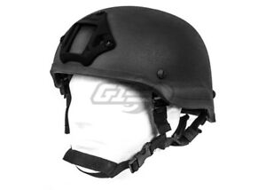 Lancer Tactical MICH 2002 Helmet w NVG Mount (Black)  14427