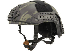 Lancer Tactical Maritime Helmet  (Camo BlackLG-XL) 31484
