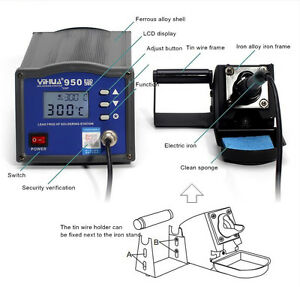 Yihua 950 Soldering Iron Station Hot Air And Preheating Station 150w 220v