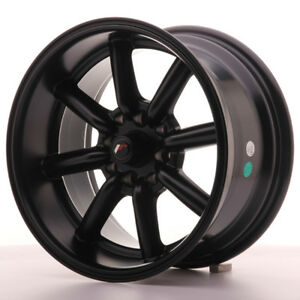 2x Japan Racing Jr19 15x8 Et 0 4x100 114 Matt Black Alloy Wheels Rs Watanabe
