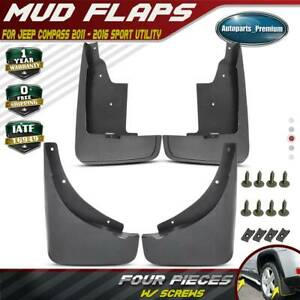 4x Splash Guards Mud Flaps Mudflaps For Jeep Compass 2011 2016 Front And Rear