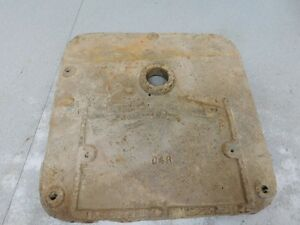 John Deere Unstyled D Tractor Reproduction Front Crankcase Cover D4r 8737