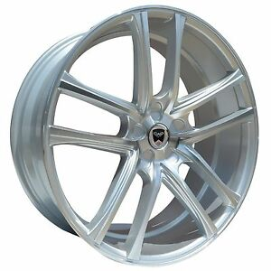 Set Of 4 Gwg Wheels 22 Inch Silver Zero 22x9 Rims Fits 5x120 Chevrolet Impala