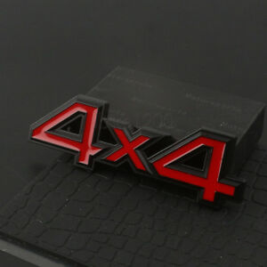 3d Red Black Metal 4x4 Emblem Badge Sticker For Ford Dodge Jeep Grand Cherokee