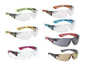 Bolle Rush Plus Safety Glasses Eye Protection Various Lens Colours 2 5 Or 10