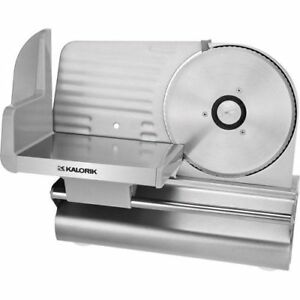 Electric Meat Slicer Silver 7 5 Blade 200w Kitchen Cheese Food Cutter Deli New