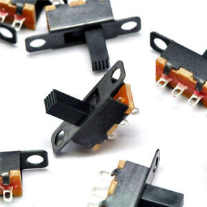 20x Slide Switches Spdt 3 pin Vertical Mini Circuit Pcb Soldered Tiny On off Dc