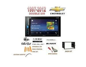 Chevrolet Blazer S10 Malibu Touchscreen Dvd Bluetooth Stereo Double Din Dash Kit