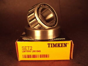 Timken Set 2 Lm11949 Lm11910 Taper Roller Bearing Cup Cone Free Shipping