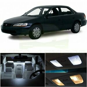 Xenon White Interior Led Lights Package For 1998 2002 Honda Accord Sedan Coupe