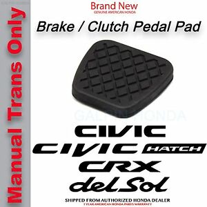 Genuine Oem Honda Brake Clutch Pedal Rubber Cover 46545 sh3 000