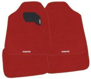 Momo Floor Mats Red 4 Piece Set
