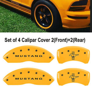 Mgp Brake Caliper Cover Yellow Mustang bar pony S197 Logotype 10197smb1yl