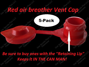 5 pk Red Vent Caps Gas Can Fuel Jug Plug Wedco Blitz Scepter fix Your Can Glug