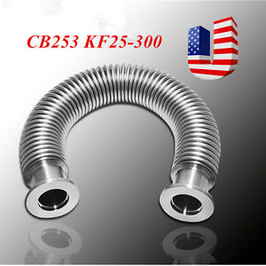 Vacuum Bellows Hose Metal Kf25 300mm 11 8 Inch iso kf Flange Size Nw 25 Usa
