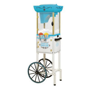 Snow Cone Cart Stand Shaving System Storage Compartment Tempered Glass Window