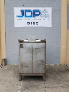 Used Stainless Steel Tote 470 Gallon Ibc Tank Custom Metalcraft