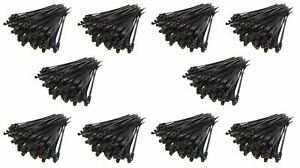 1000 Pack 7 Screw Down Zip Ties Nylon Black Nail Screw Wire Cable