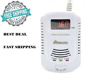 Wall Gas Leak Detector Methane Natural Propane Butane Safe Alarm Sensor Voice