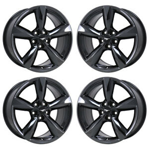 18 Ford Mustang Gt Black Chrome Wheels Factory Oem 2016 2017 2018 Set 4 10029