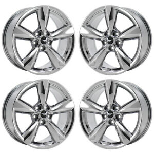 18 Ford Mustang Gt Pvd Chrome Wheels Factory Oem 2016 2017 2018 Set 4 10029