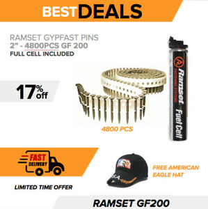 Ramset Gypfast Pins 2 Gf200 4800 Pcs New For Nailer Gun Fuel Cell