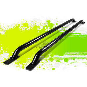 Pair 58 5 Black Truck Side Rail Bar For 07 13 Silverado Sierra 1500 68 69 Bed