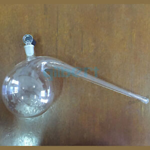125 2000ml Borosilicate Glass Retort With Ground in Stopper Round Bottom Labware