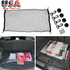 Suv Nylon Mesh Hatchback Rear Trunk Luggage Storage Organizer Net Plus Mounting