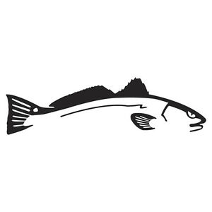 Swimming Red Fish Decal