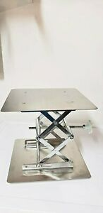 Lab Stainless Steel Lab Jack 12 30cm x12 30cm scissor Stand Lifting Table New