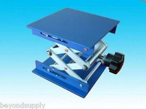 Lab Aluminium Oxide Lab Jack 8 20cm x8 20cm scissor Stand Lifting Table New