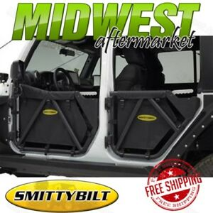 Smittybilt Src Gen2 Rear Tube Doors Fits 2007 2017 Jeep Wrangler 4 Door