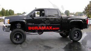 Door Banner Graphic Vinyl Decal Fits Duramax Diesel Chevy Silverado Gmc Sierra
