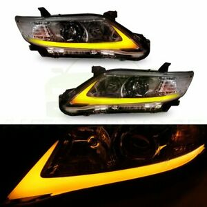 Headlight Assembly Led Drl Lamp For Toyota Camry 2010 2011 Clear Chrome Housing