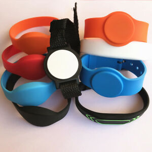 Rfid Wristbands 13 56mhz Mifare Classic 1k Iso14443a Silicone Access Control 5