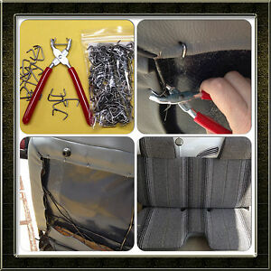 Hog Ring Pliers And Galvanized Hog Rings 3 4 Set Upholstery Seat Covers Bungee