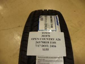Toyo Open Country A26 265 70 18 114s Brand New Tire 301870