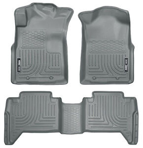 2005 2015 Toyota Tacoma Double Cab Grey Husky Liners Weatherbeater Floor Mat Set