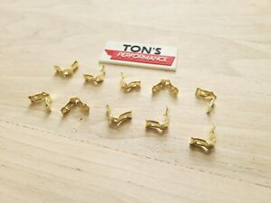 10 Pieces Brass Spark Plug Distributor Wire Terminal Ends Motorcraft 5301 New