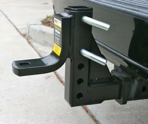 Ball Mount Hitch Drop Trailer 8 Position Heavy Duty Towing 5000 Lbs