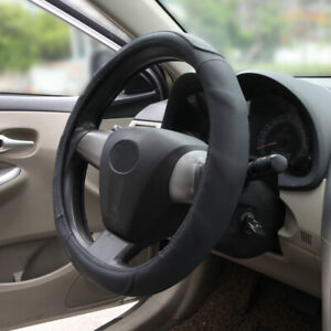 Genuine Leather Steering Wheel Cover Black For Honda Civic 15