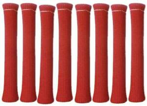 Big End Performance Red Spark Plug Wire Boot Protectors 8 Pcs Bep80126