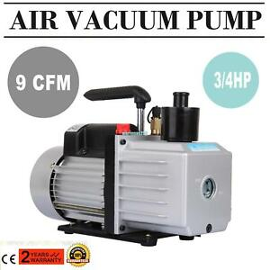 Electric 9cfm 250w Hvac Air Conditioning Ac Deep Refrigeration Vacuum Pump