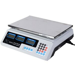 Digital Weight Scale Price Computing Retail Food Meat Grams Count 66lbs Kitchen