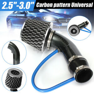 Carbon Pattern 2 5 3 0 Universal Cold Air Intake Hose Pipe Kit System Filter